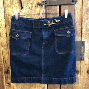 Ralph Lauren Skirt Size 4  Brass Buckle Denim